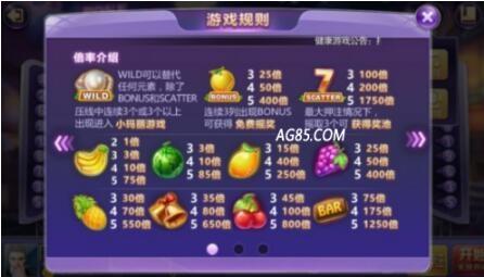 破解AG水果拉霸游戏之手机水果拉霸概率算法详解!