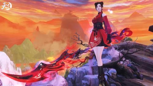 星桥火树,开遍红莲万蕊。《天下3》全新红莲业火武魂霸气来袭!